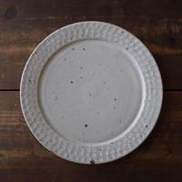 伊藤 豊 ブロックプレート7.5寸(粉引)