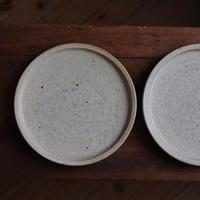 叶谷真一郎 灰粉引6.5寸細リム皿