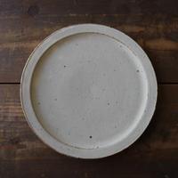 伊藤 豊 土化粧リム皿7.5寸(ベージュ)