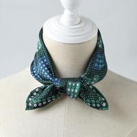 Silk 100 % floral green  scarf