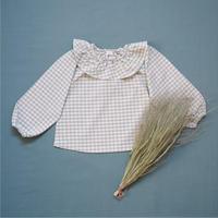 Girls plaid blouse