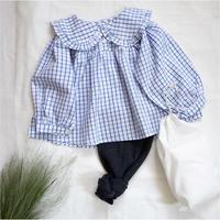 Girl's plaid cotton blouse