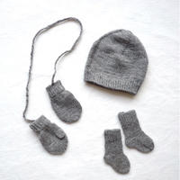 Baby's  Basic  Knit  set【Grey】