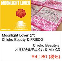 """【セット】Moonlight Lover (7"""") + Chieko Beauty's オリジナル手ぬぐい & Mix CD"""