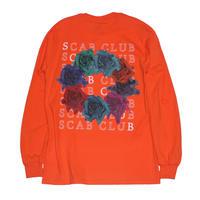 SCABCLUB FLOWER Long Sleeve T-Shirts ORANGE