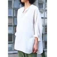 プルオーバーシャツ<17101-BL / WHITE>