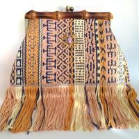 """""""MALHIA KENT fringe"""" Bamboo Clutch Bag"""