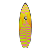 """5'8"""" Circa 80's HIGH PERFORMANCE  """"Magret"""" Air brushed & Hand shaped by Peter Schroff"""