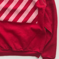 Vintage raglan sweat shirts Red
