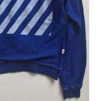 Vintage raglan sweat shirts Royal blue
