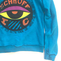 Vintage raglan sweat shirts  Aqua blue