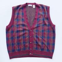 Acryl & wool vest cardigan / アクリル&ウール ベスト