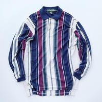 Knights of round table striped shirt / ナイトオブラウンドテーブル ストライプ 長袖シャツ