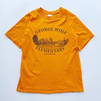 90's George wolf elementary tee / 90年代 プリントTシャツ