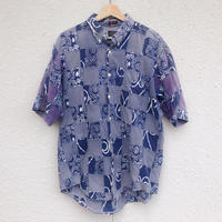 Cleve S/S patchwork shirt