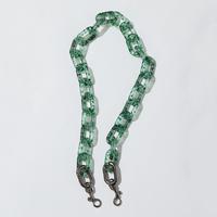 SAMO ONDOH / ACC glass terazzo chain - 74cm (green)