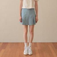 margarin fingers / half pleats skirt