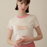 margarin fingers / logo ringer t shirt