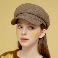 「Margarin fingers」herringbone newsboy cap