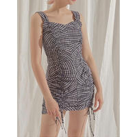 margarin fingers  shirring string one-piece
