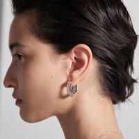 NUMBERING / Single Chain Unit Earrings