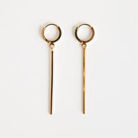 zudritt / line drop hoop pierced