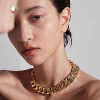 NUMBERING / Hidden Lock Chain Necklace