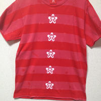 "BLEACH BORDER CUSTOM T's ""桜"" RED"