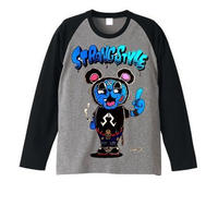 "RAGLAN LONG SLEEVE T's ""ESPY FUCK OFF BEAR"""