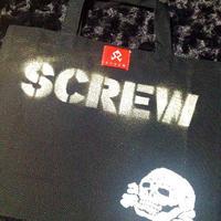 SCREW ステンシルトートバッグ