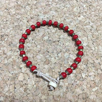 beads bracelet & anklet red