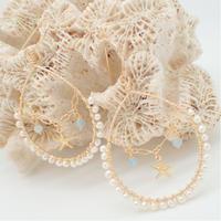 water perl × aqua marine pierce