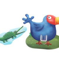 シールフック 粘着力強力  可愛い動物デザイン(ビッグマウスバード)