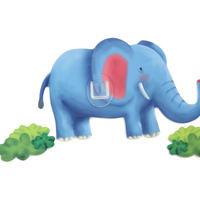 シールフック 粘着力強力  可愛い動物デザイン(ゾウ)
