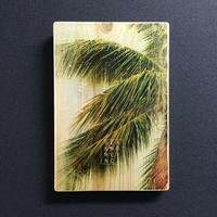 wood plate : PALM TREE