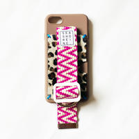 for iPhone【 fabric 】brown