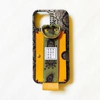 for iPhone【 animal 】black snake × rubber khaki