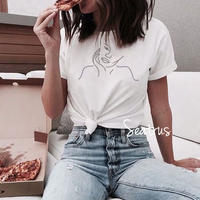 アート ウーマン フェイス ペイント Tシャツ シャツ 2019ss  ss