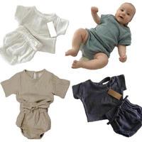 baby/kids リネン ハーフスリーブ  トップス シャツ 半袖 ショートパンツ  セットアップ 2019ss  子供服 ベビー服 キッズ 出産祝い