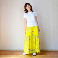 Pleats Skirt  UME [ Yellow ]