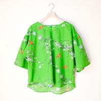 V Neck Blouse [ UME/yellow green ]