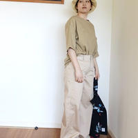 Wide Pants [ Beige ]