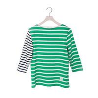 BOWBOW T-shirts [ Green&ecru ]