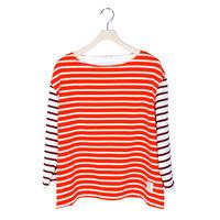 BOWBOW T-shirts [ Orange&ecru ]