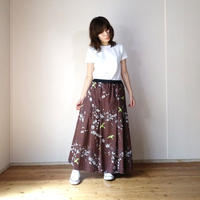 Pleats Skirt  UME [ Brown ]