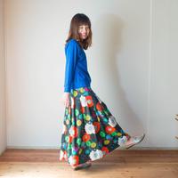 Pleats Skirt  FURAWA  [Black]