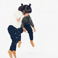 KID'S MONPAN  1/4SAKANA [indigo]
