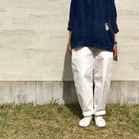 Cotton Twill Side-tuck Baggy Pants