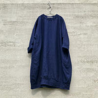 Indigo Linen Cocoon Tunic / L