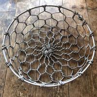 亀甲編みの丸型かご